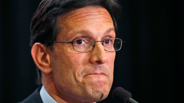 House majority leader Eric Cantor delivers a concession speech in Richmond, Va., on June 10, 2014. Cantor lost in the Republican primary to Tea Party candidate Dave Brat.