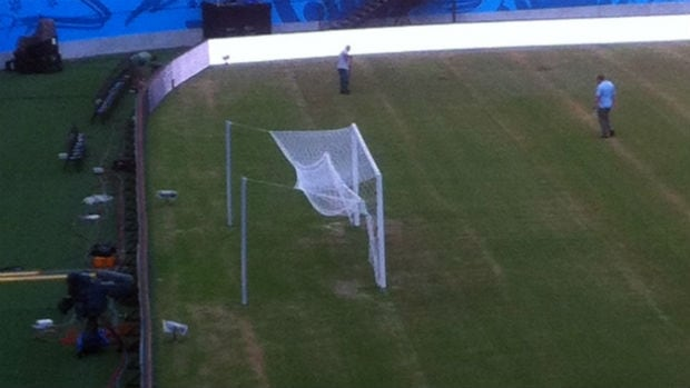 The pitch at Arena Amazonia is in poor shape days before England and Italy make their World Cup debut.