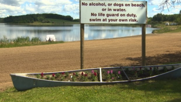 Carmen Gaye Stewart's three-year-old son, Traeh, drowned near this beach at Mink Lake, Alta., in June 2013.