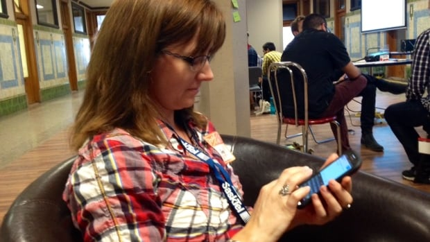 Amy Prince is brushing up on her tech skills at MoSo 2014.
