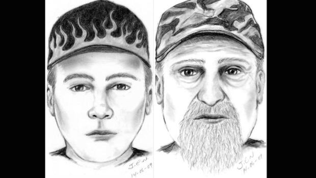 RCMP in Fort Vermilion released these sketches of the two men they believe are behind three separate child abduction and luring attempts since June 7.
