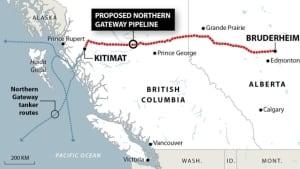 northern gateway map