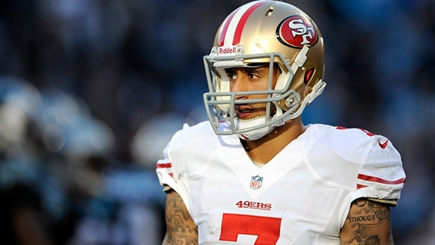 Colin Kaepernick received a six-year, $126-million US extension from the 49ers this month.
