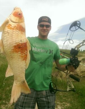 Koi caught at Boundary Dam reservoir