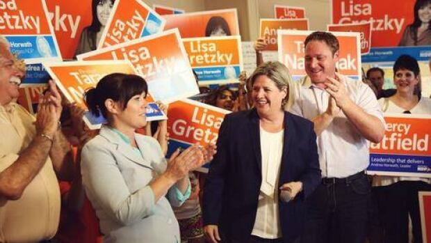 NDP Leader Andrea Horwath made three trips to Windsor-Essex during the campain and it paid off with Lisa Gretzky winning Windsor West.