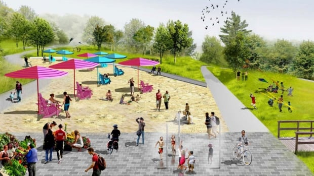 Edmontonians will have to wait four more years before conversations resume about a proposed urban beach at Louise McKinney Park.