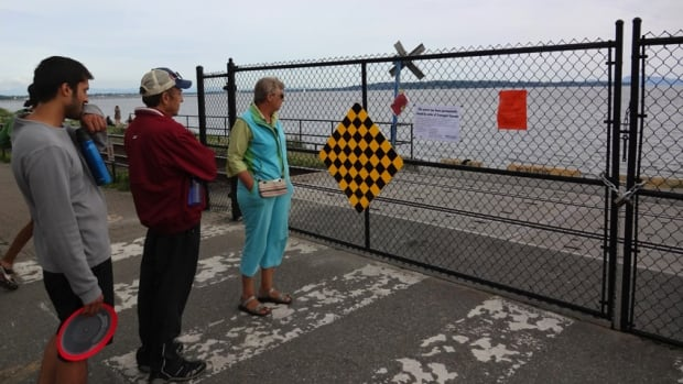 White Rock residents and mayor are upset after Transport Canada ordered the City of White Rock to gate off the boat launch and construct additional fencing