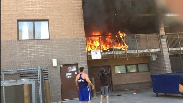 A fire broke out in an apartment at Sargent Avenue and Balmoral Street Thursday afternoon.