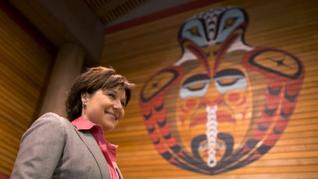 B.C. Premier Christy Clark signed the memorandum of understanding at the First Nations Summit, held at the Chief Joe Mathias Squamish First Nation Centre in North Vancouver, B.C..