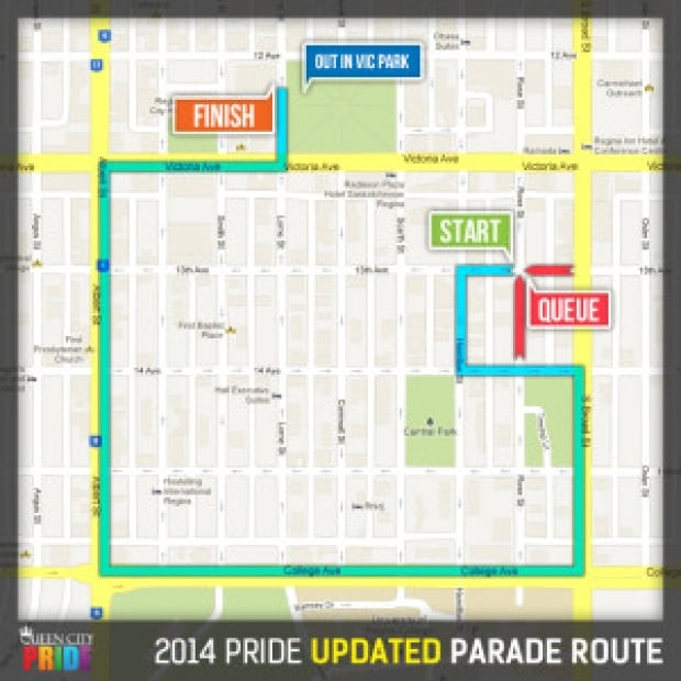 2014 Pride Parade Route