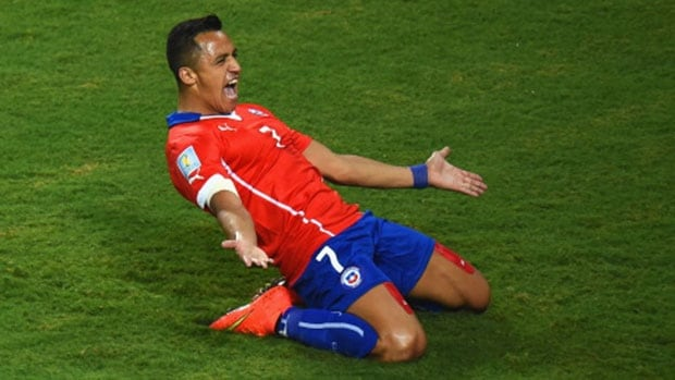 Chile's Alexis Sanchez scored a goal and set up another one during a victory over Australia Friday.