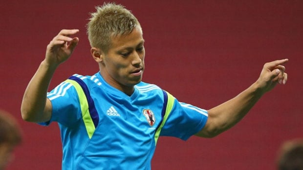 An attacking midfielder for AC Milan, Japan's Keisuke Honda scores creatively while having a keen eye for playmaking.