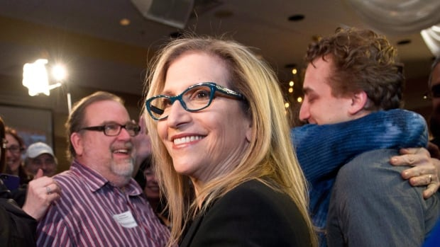 Ontario PC candidate Gila Martow, seen here celebrating a byelection win in February, has won the Thornhill riding by 85 votes in a recount.