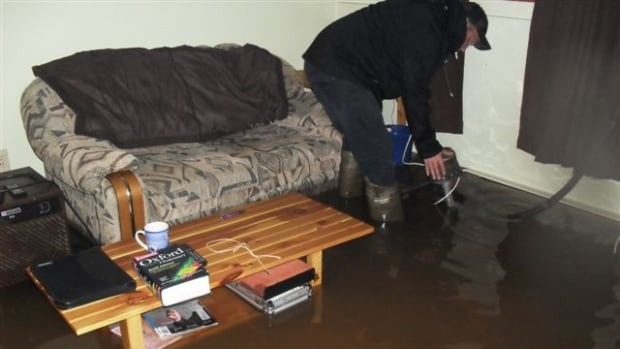 Jim MacDonald had a big problem with flooding in 2011. This photo shows the damage in his home.