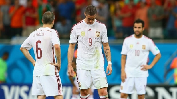 Spain suffered its worst loss in 64 years at the World Cup against the Netherlands.