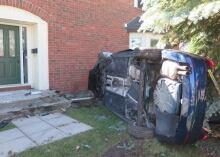 SUV crash into Kanata home (June 15, 2014)