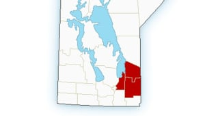 SE Manitoba rainfall warning