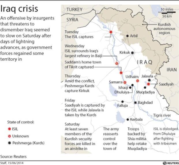 Reuters Iraq map
