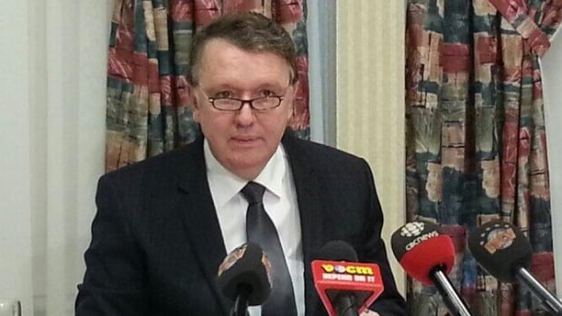 Frank Coleman announced his decision to leave politics at a news conference in St. John's on Monday.