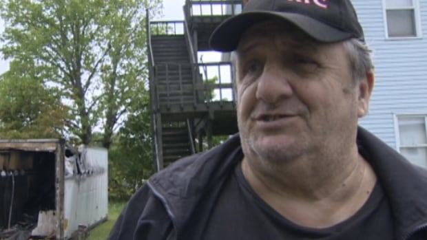 Al Gagnon said the heat from the Argyle Street fire could be felt from almost 15 metres back.