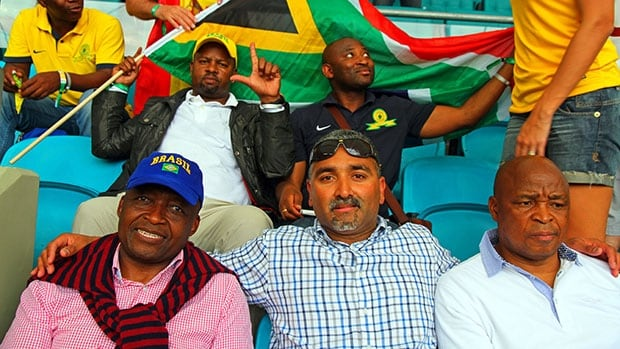 """Members of the South African Mamelodi Sundowns staff are in Brazil """"on a big mission', and of course, to enjoy the World Cup."""