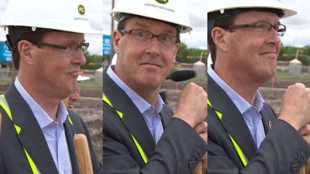 Regina Mayor Michael Fougere was very excited to be a part of a ground-breaking ceremony for the city's new $278-million football stadium.