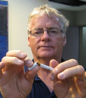 Bruce Robinson wants people to quit smoking skpic
