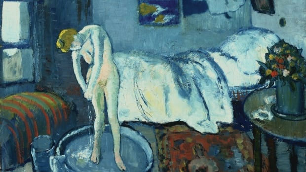 Experts at The Phillips Collection in Washington have discovered a hidden painting behind Pablo Picasso's 1901 work The Blue Room.