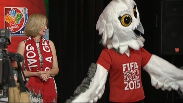 Laureen Harper helped introduce the new mascot for the FIFA Women's World Cup.