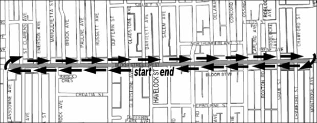 The construction loop on Bloor