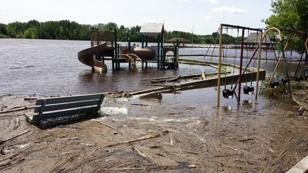 The Rainy River overflowed its banks earlier in June, flooding public areas in the municipality of Rainy River.