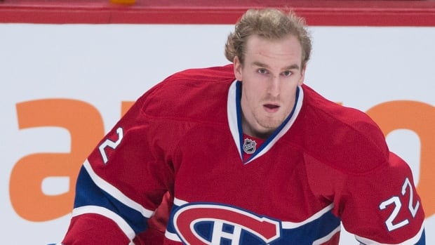 Montreal Canadiens forward Dale Weise is seen prior to a regular season game.
