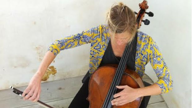 Leann Zacharias will infiltrate Parlour Coffee on Main St. as part of the Cello Intervention.