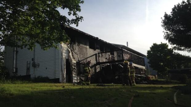 A home at 171 Taranaki Drive went up in flames Tuesday.