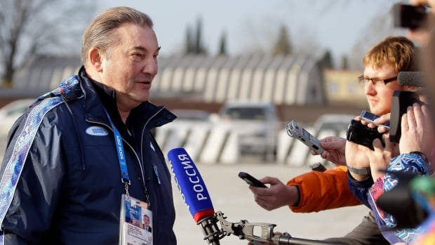 Vladislav Tretiak, a former goaltender for Russia's national ice hockey team, is shown during the Sochi Olympics.