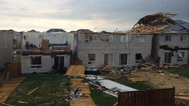 The post-tornado inspection work is wrapping up, just days after a tornado tore through Angus, Ont., damaging scores of local homes. (Greg Facchini/Canadian Press)