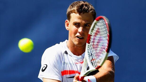 Vasek Pospisil of Vernon, B.C., won 6-4, 6-2 over Jan-Lenard Struff in the second round of the Topshelf Open on Wednesday.