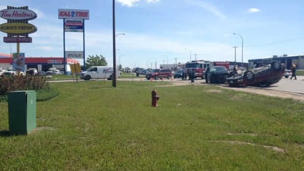 The collision happened Wednesday afternoon near the Brookside Boulevard and Inkster Boulevard intersection.