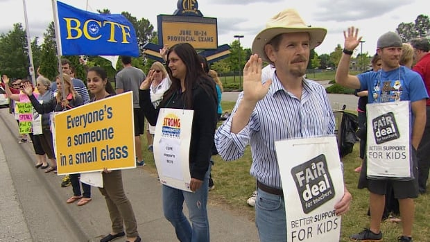 President of the Surrey Teachers' Association says $10K in food vouchers already gone.