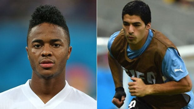 England needs Raheem Sterling, left, to continuing playing fast, while Uruguay hopes its star player Luis Suarez will be match fit.