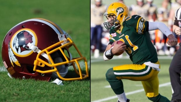 "The U.S. patent office stripped the Washington Redskins NFL team of its right to register the name ""Redskins."" The news has led some Canadians to ask whether it's time to also retire the Edmonton Eskimos CFL team name, reasoning it may also be offensive to indigenous people."