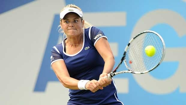 Aleksandra Wozniak, seen in competition last week, will be in the Wimbledon main draw for a seventh time.
