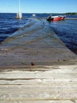 Dock at La Place Rendezvous Hotel in Fort Frances