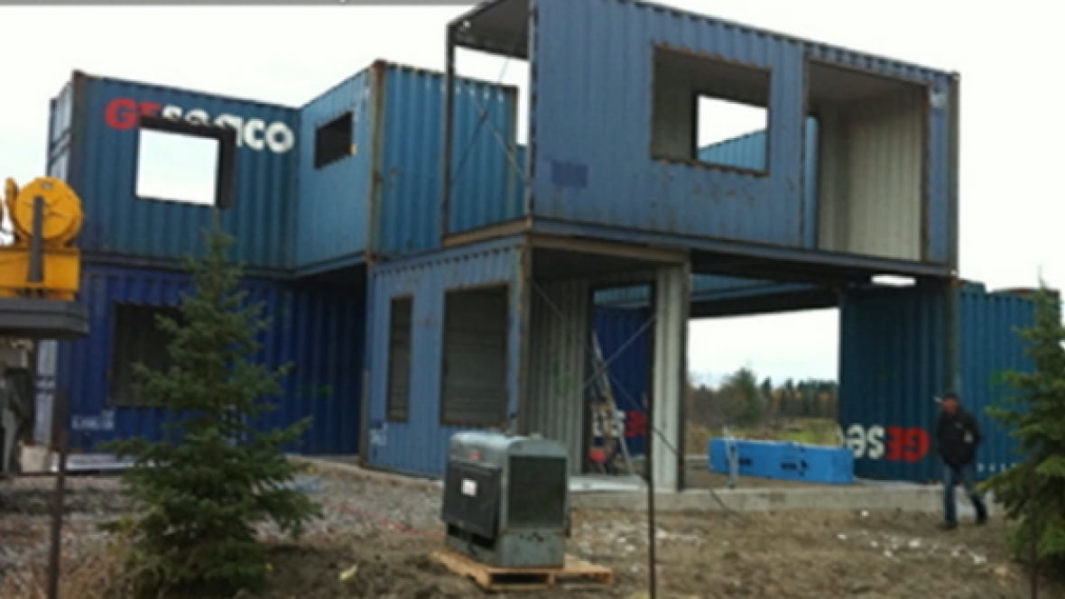 builds home out of 4 steel shipping containers - Ottawa - CBC News