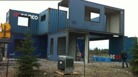 Couple builds home out of 4 steel shipping containers ottawa cbc news - Container homes toronto ...