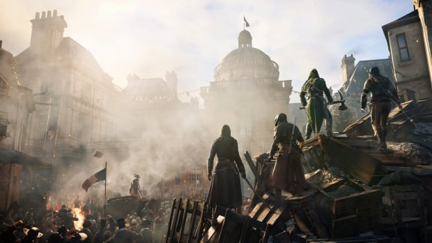 Video game maker Ubisoft came under fire at E3 after revealing that the playable characters in the co-op modes of both its historical adventure Assassin's Creed: Unity (above) and shoot-'em-up Far Cry 4 would all be men.
