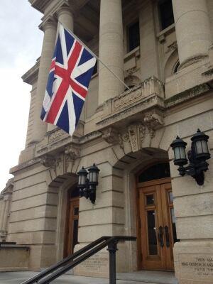 United Empire Loyalist flag at Sask. legislature