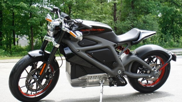 Harley-Davidson's new LiveWire electric motorcycle is shown at the company's research facility in Wauwatosa, Wis. It will be formally unveiled Monday.