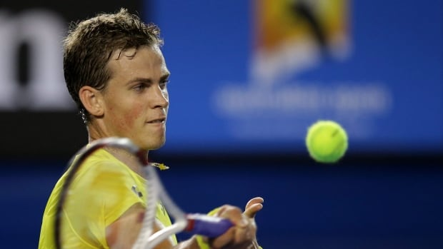 Vasek Pospisil is shown at a tournament earlier this year.
