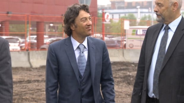 Daryl Katz made a rare public appearance at the groundbreaking of the new downtown office tower at 101st Street and 104th Avenue.